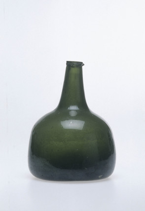 Early wine bottle, c 1740.