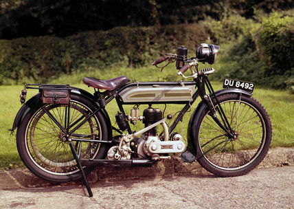 Triumph motor cycle, 1917.