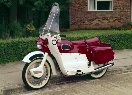 Ariel Leader twin-cylinder, two-stroke motorcycle, 1963.
