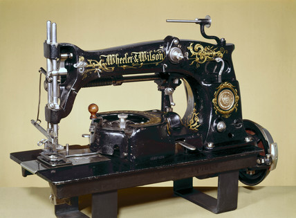 Wheeler and Wilson automatic button-hole machine, 1890.