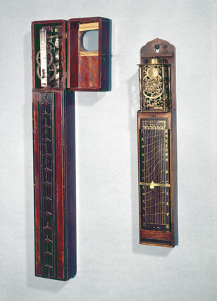 Two pillar clocks, Japanese, 17th and 19th century.