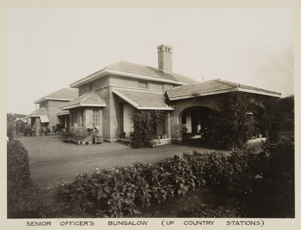Officers' bungalow, India, c 1930.