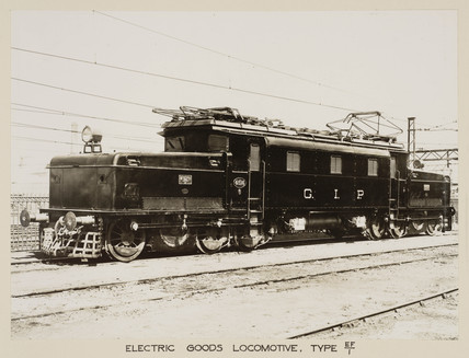 Electric goods locomotive, India, c 1930.