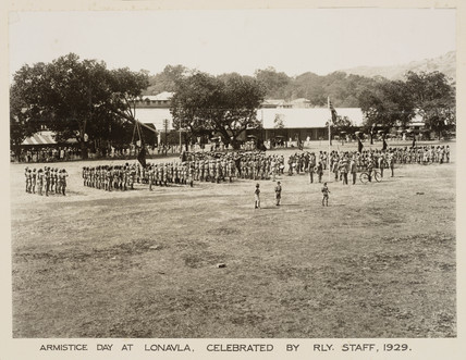 Armistice Day, Lonavla, India, 11 November 1929.