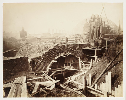 St Pancras station construction, c 1867