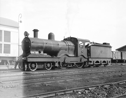 A class 33 locomotive at Port Said, Egypt, 1940.