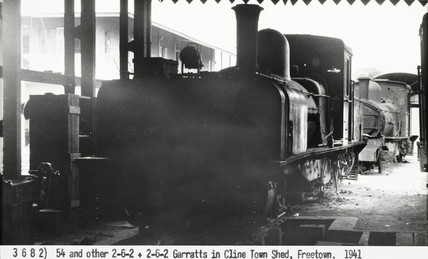 Garratt locomotives at Freetown, Sierra Leone, 1941.