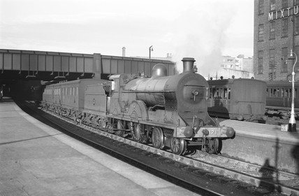 Passenger train to Dublin at Belfast Station, 1939.