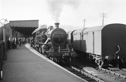 Belfast Express at Londonderry Station, Northern Ireland, 1950.