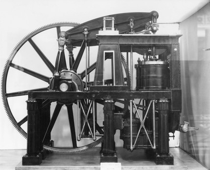 Model of double beam engine, 1840.