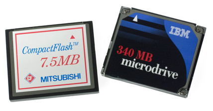 Memory cartridges for digital cameras, 2004.