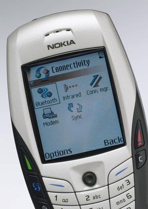 Nokia mobile phone with Bluetooth, 2004.