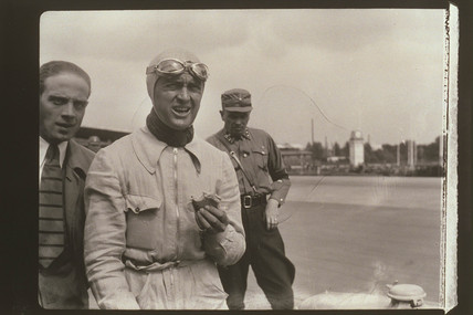 Zoltan Glass motor racing photograph, c 1930s.
