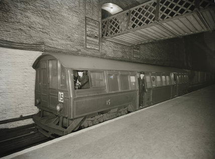 Early underground train, c 1935.