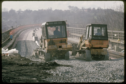 Laying ballast, 1989.