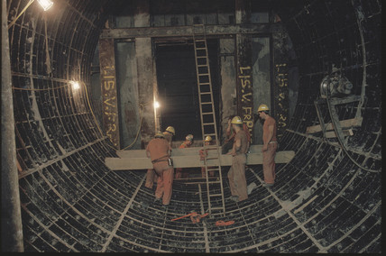 Inside the Channel Tunnel, 1992.