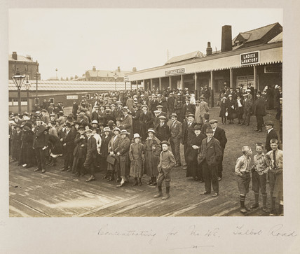 Miners at Talbot Road Station, 1919.