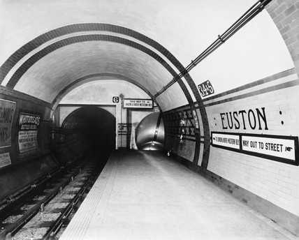 Euston tube station, 1908