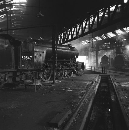 York engine shed, 1951.