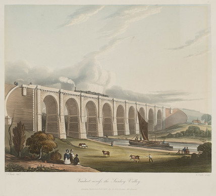 Sankey Viaduct, Earlestown, Merseyside, 1831.