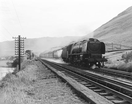 Passenger train at Dillicar, Cumbria, c 1952.