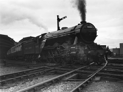 A3 locomotive at York Station, c 1953.