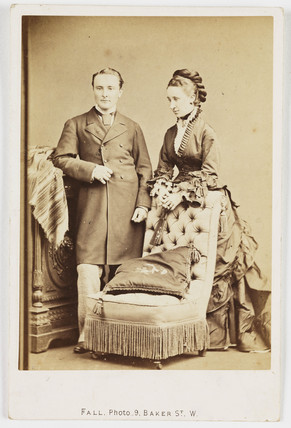 Man and woman, c 1878.