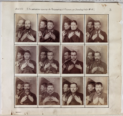 Portraits of criminals, c 1890.