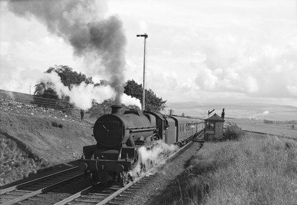 Jubilee class locomotive at Shap, Cumbria, 1961.