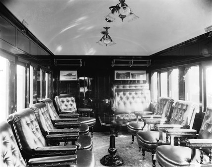 NER Club Saloon Interior, c 1920s.