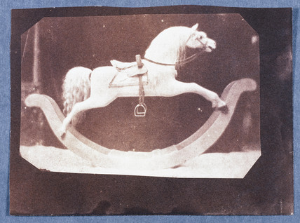 Rocking Horse at Lacock Abbey, Wiltshire, c 1842.