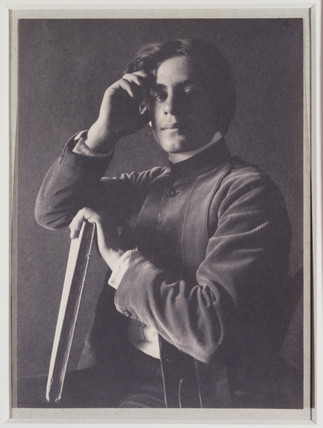 'Kahlil Gibran with Book', 1897.