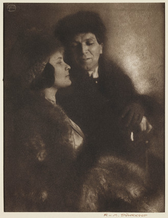 Portrait of a man and a woman, c 1905.