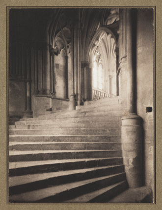 'Stairs to Chapter House, Wells', 1900.