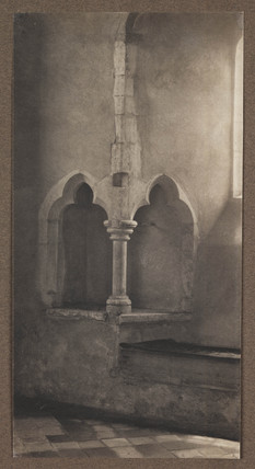 'Chancel Piscina in the Church at Little Snoring, Norfolk', 1906.