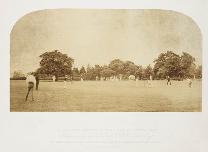 'A Cricket Match Played the 25th July 1857'.