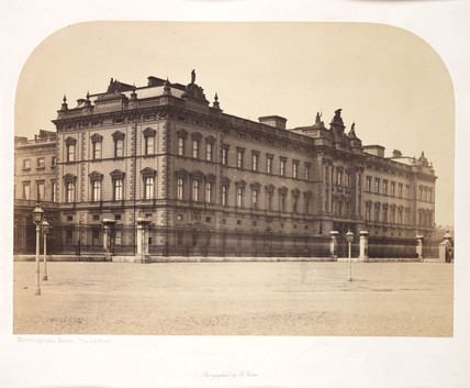 'Buckingham Palace, Old Front', c 1856.