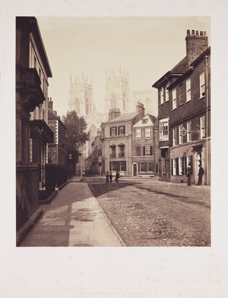 'York Minster from Lendal', c 1856.