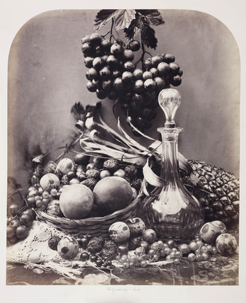 Decanter and fruit, 1860.