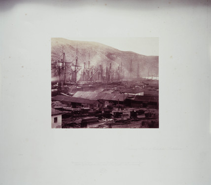 'Railway Sheds and Workshop, Balaklava', 1855.