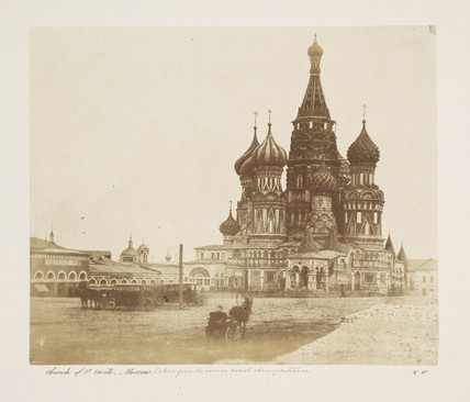 'Church of St Vasili, Moscow...' c 1852.