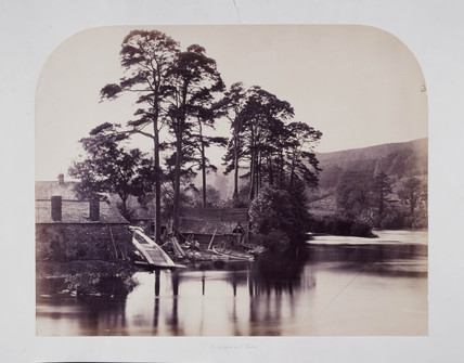 'View from the Newby Bridge, Windermere', c 1858.