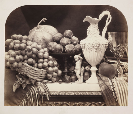 'Parian Vase and Silver Cup', 1860.