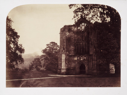 'Bolton Abbey, West Window', 1854.