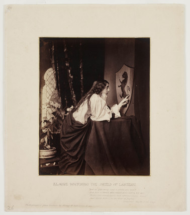 'Elaine Watching The Shield of Lancelot', 1859.