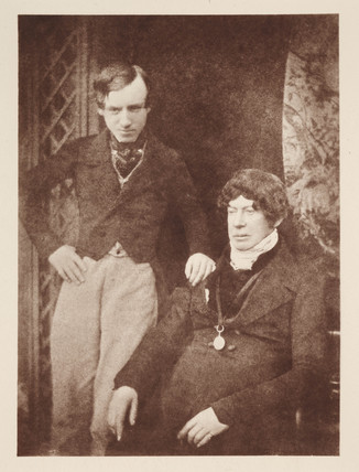 Charles Kirkpatrick Sharpe and unknown man, c 1840s.