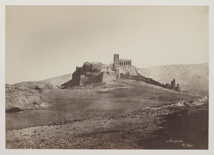 General view of Acropolis, Athens (including 'Mars Hill'), 1849 to 1850.