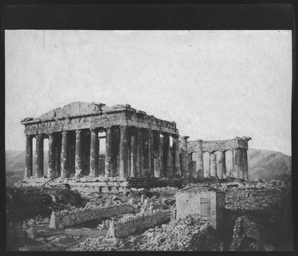 The Parthenon, Athens, from the north west, 1851.