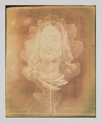 'Face of Christ superimposed on an oak leaf', 1839.