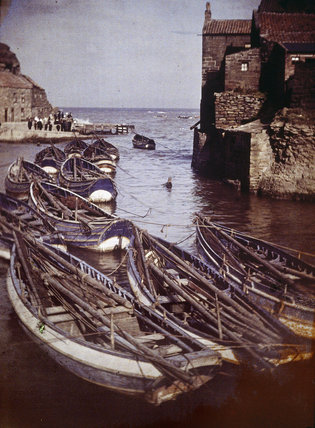'Staithes Harbour', early 20th century.